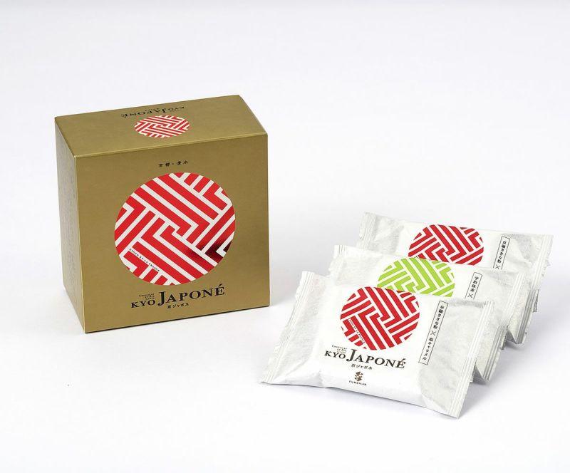 普門庵 京ジャポネ 6個箱 (京碾ききなこ3個、宇治抹茶3個)